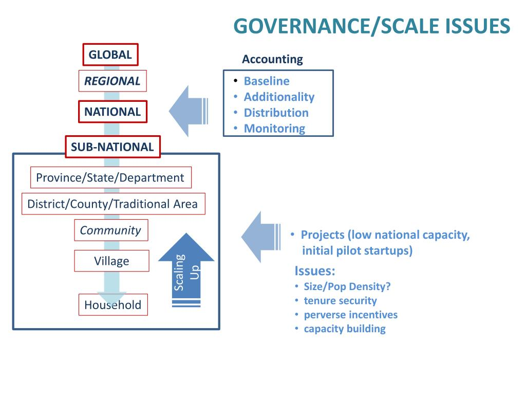 GOVERNANCE/SCALE ISSUES