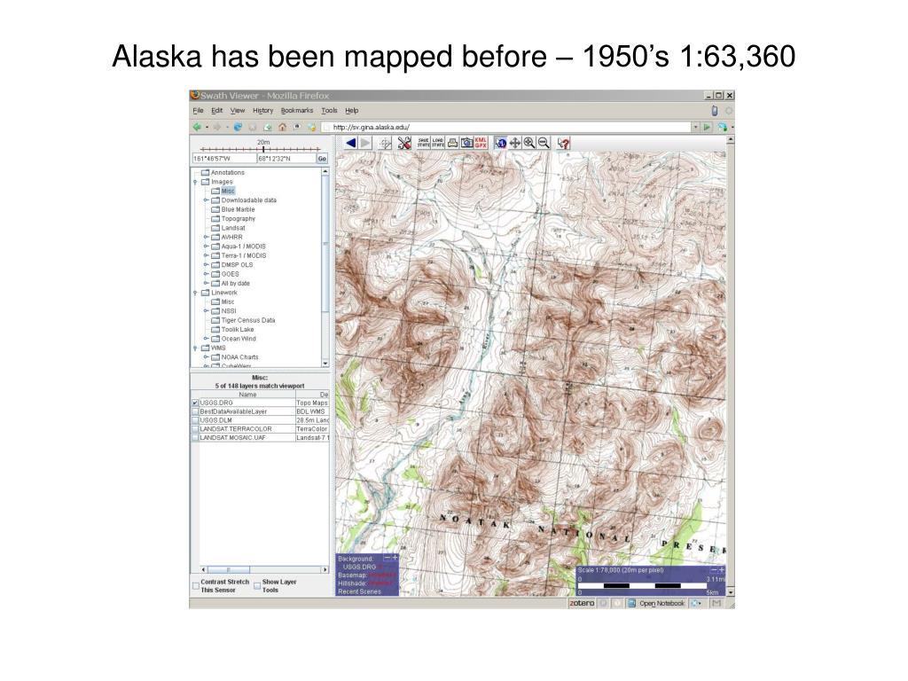 Alaska has been mapped before – 1950's 1:63,360