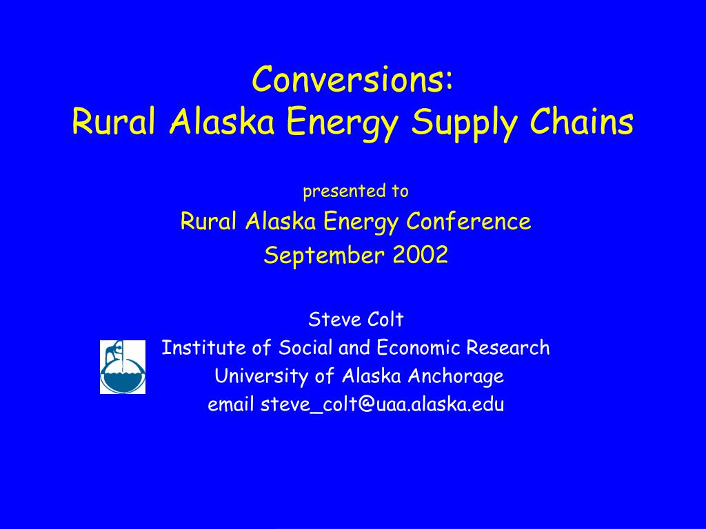 conversions rural alaska energy supply chains
