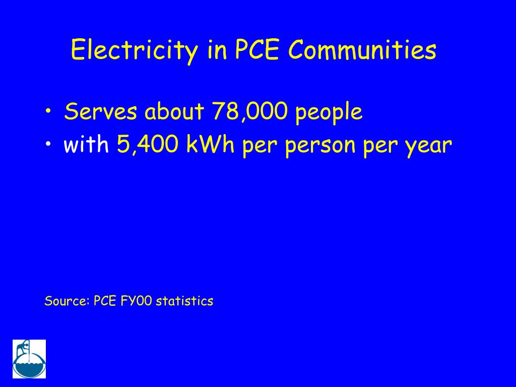 Electricity in PCE Communities