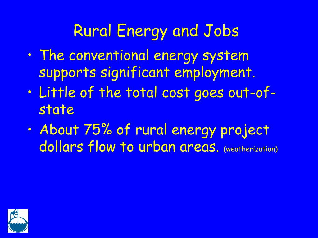 Rural Energy and Jobs