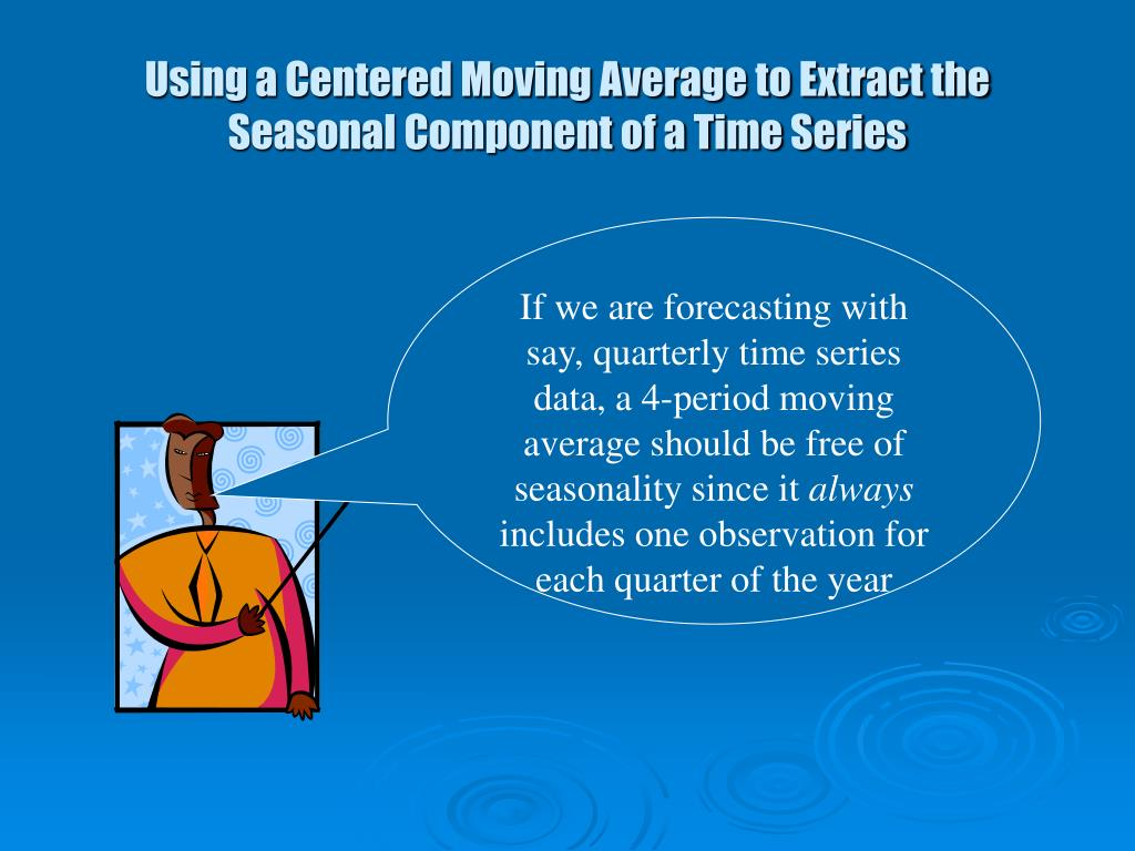 Using a Centered Moving Average to Extract the Seasonal Component of a Time Series