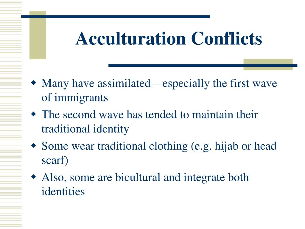 Acculturation Conflicts