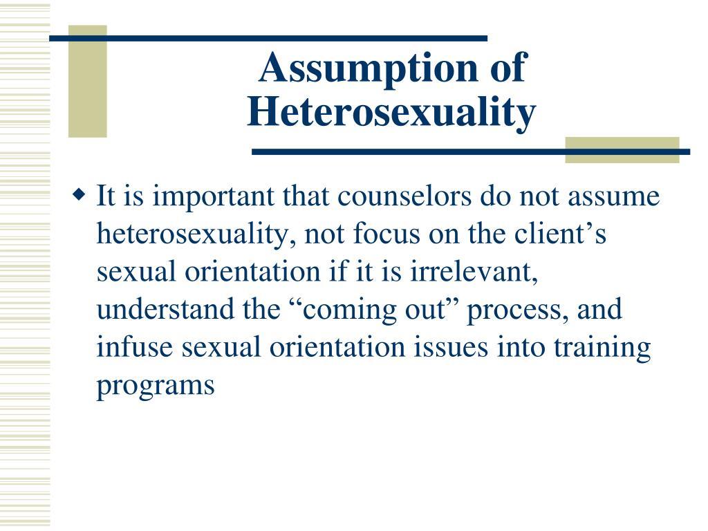 Assumption of Heterosexuality