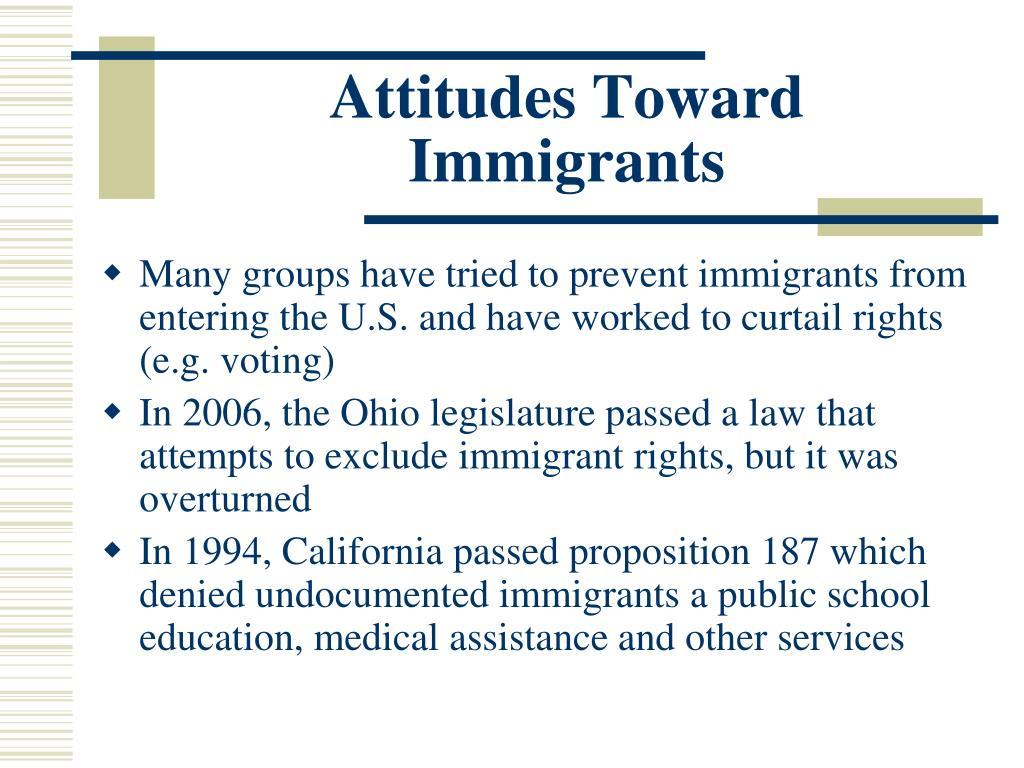 Attitudes Toward Immigrants