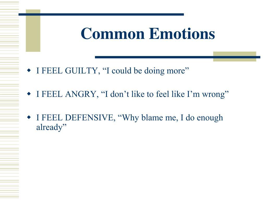Common Emotions