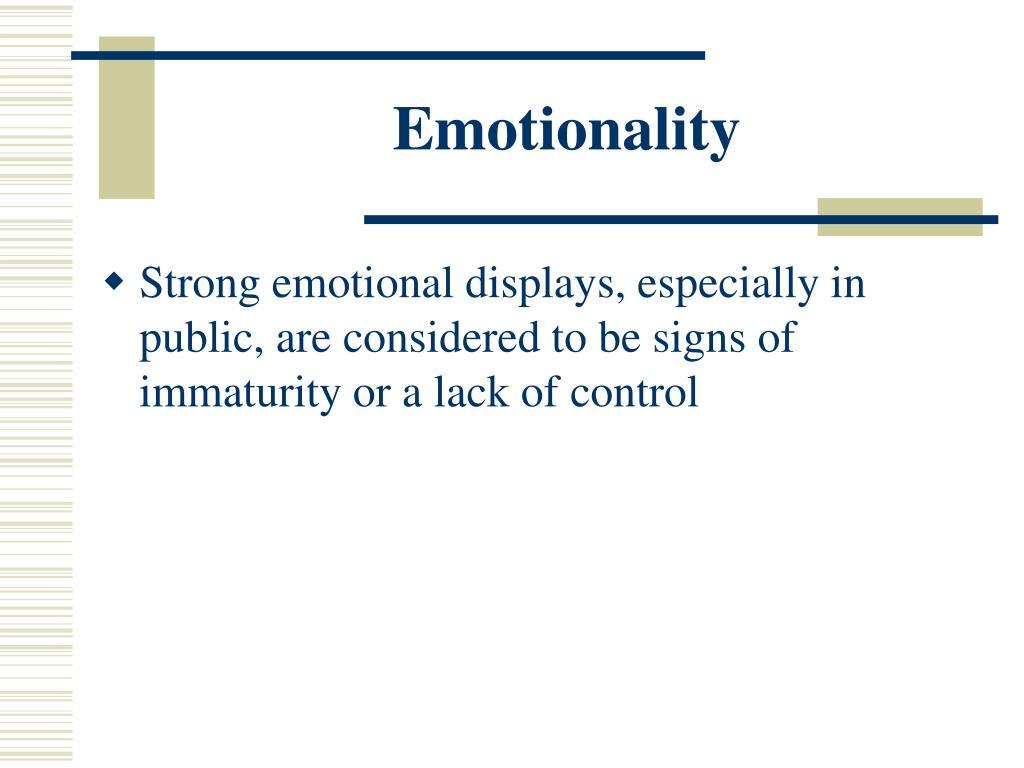 Emotionality