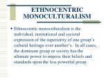 ethnocentric monoculturalism