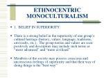 ethnocentric monoculturalism35