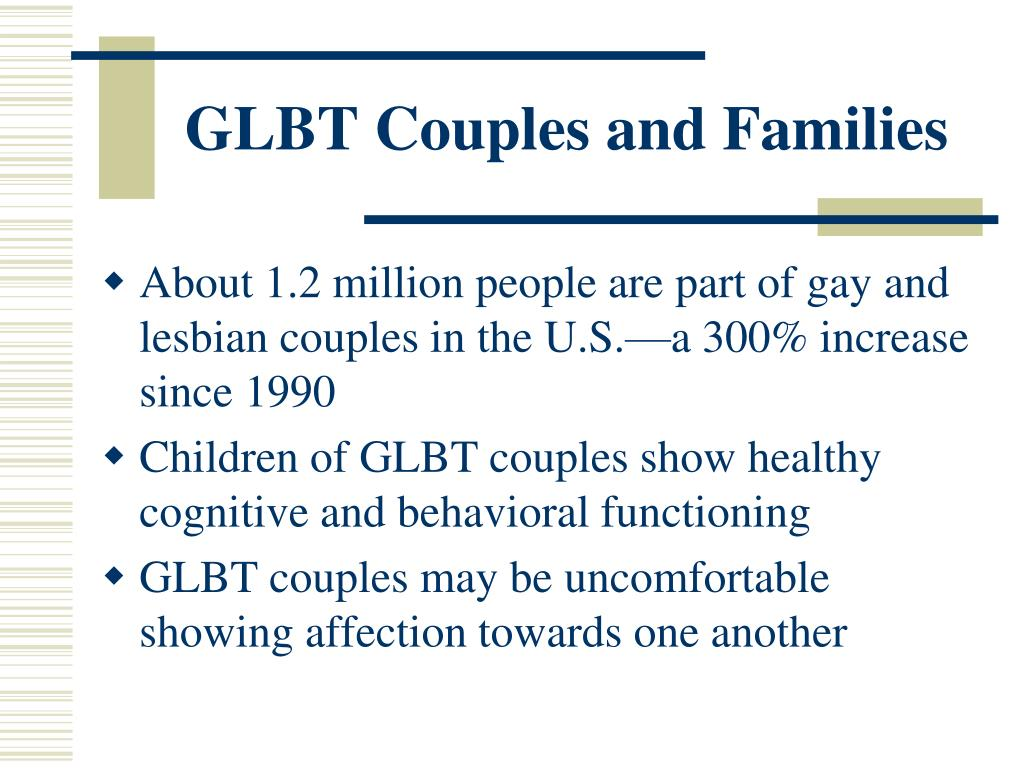 GLBT Couples and Families