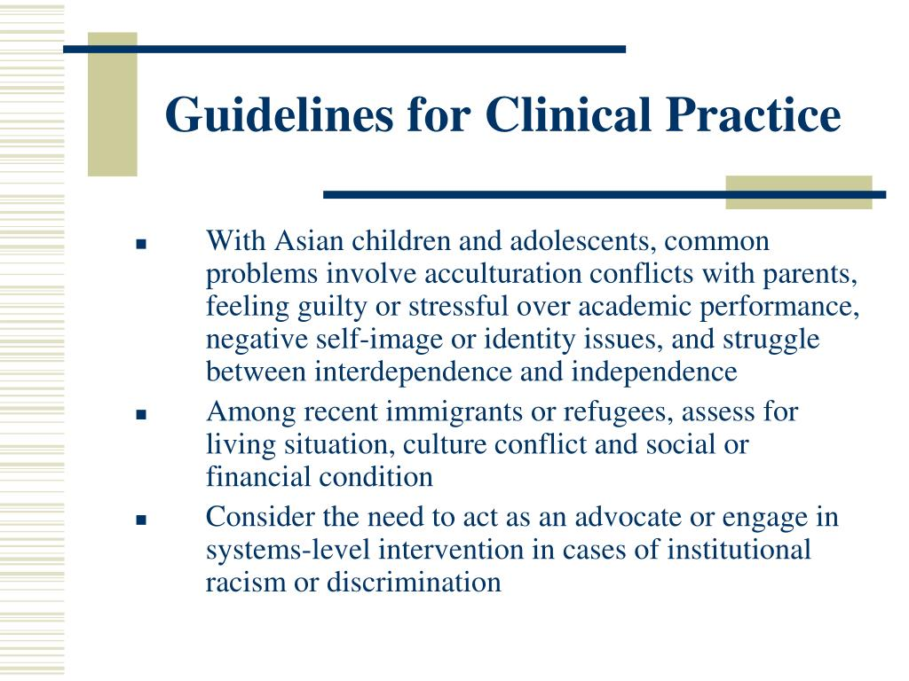 Guidelines for Clinical Practice