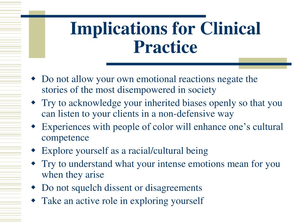 Implications for Clinical Practice