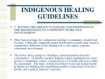 indigenous healing guidelines87