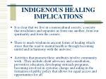 indigenous healing implications
