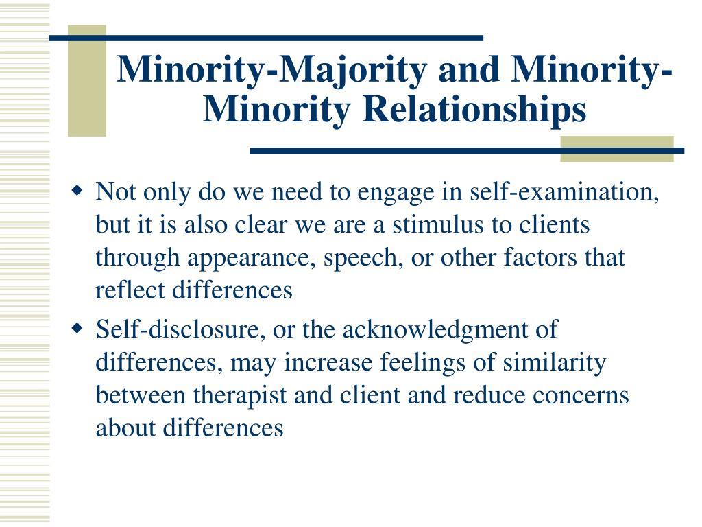 Minority-Majority and Minority-Minority Relationships