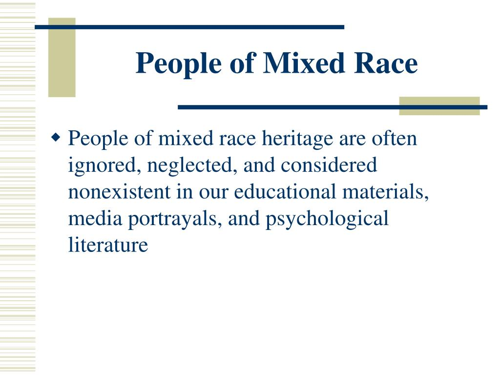 People of Mixed Race