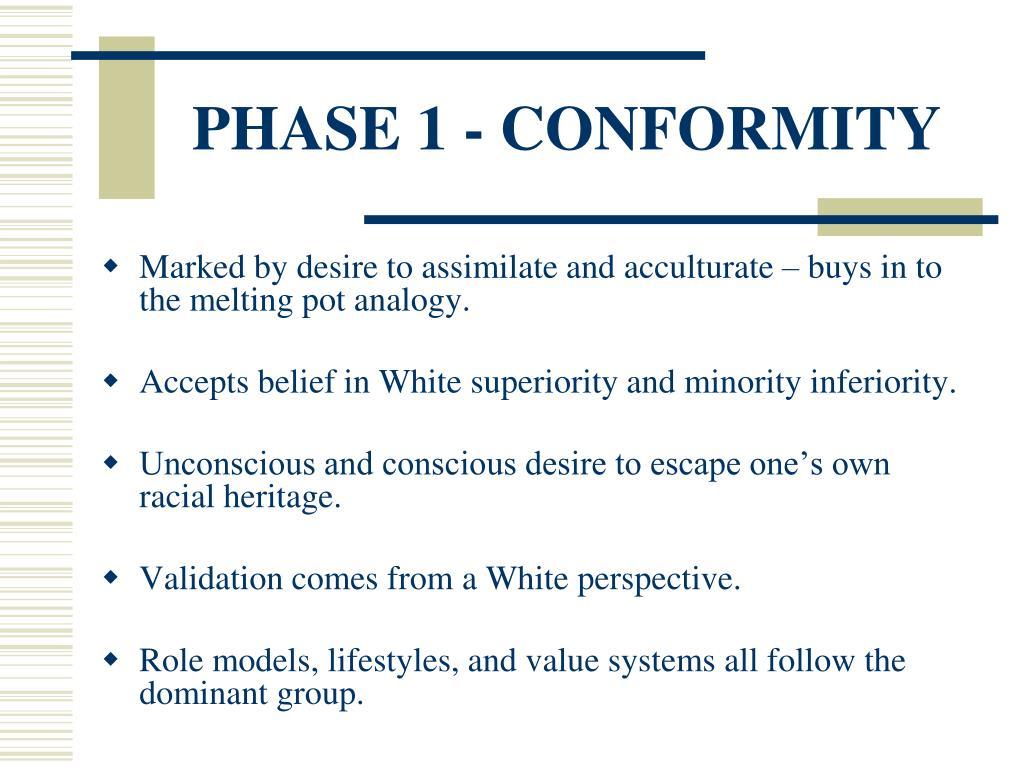 PHASE 1 - CONFORMITY
