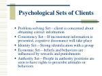 psychological sets of clients
