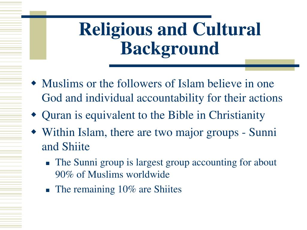 Religious and Cultural Background