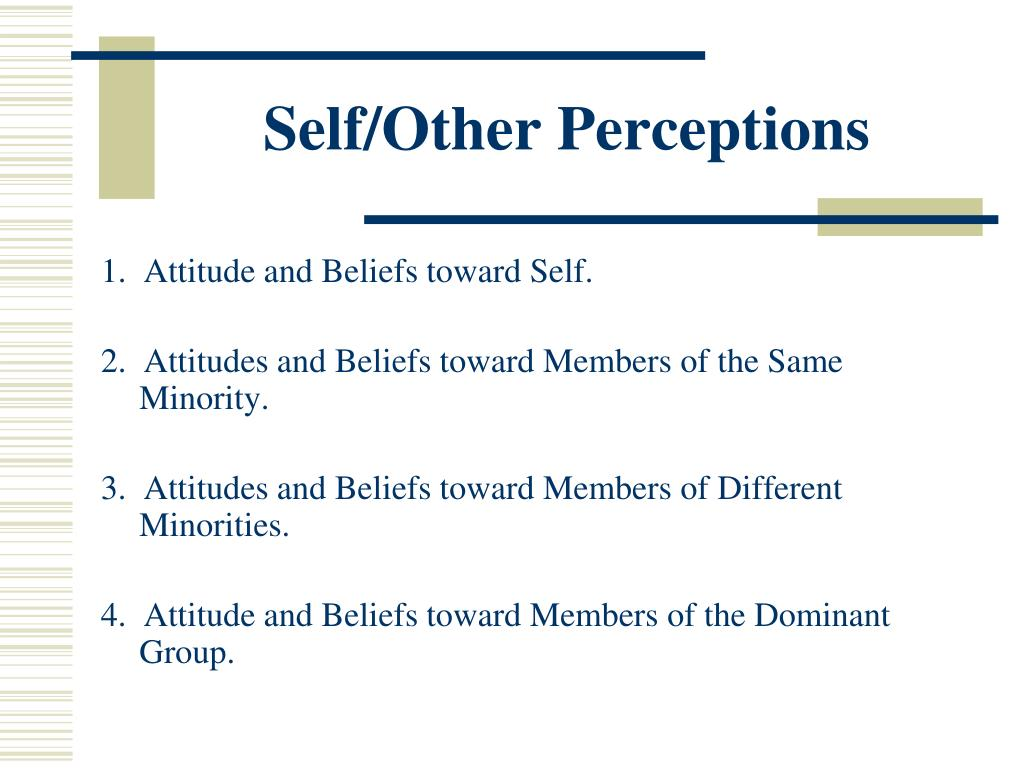 Self/Other Perceptions
