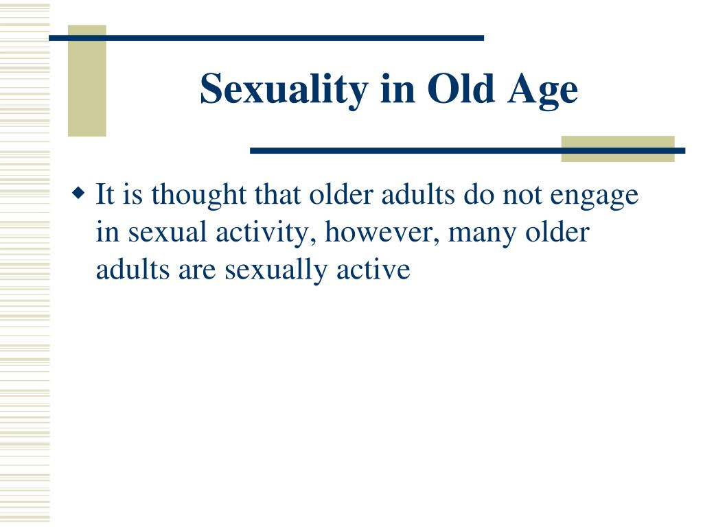 Sexuality in Old Age