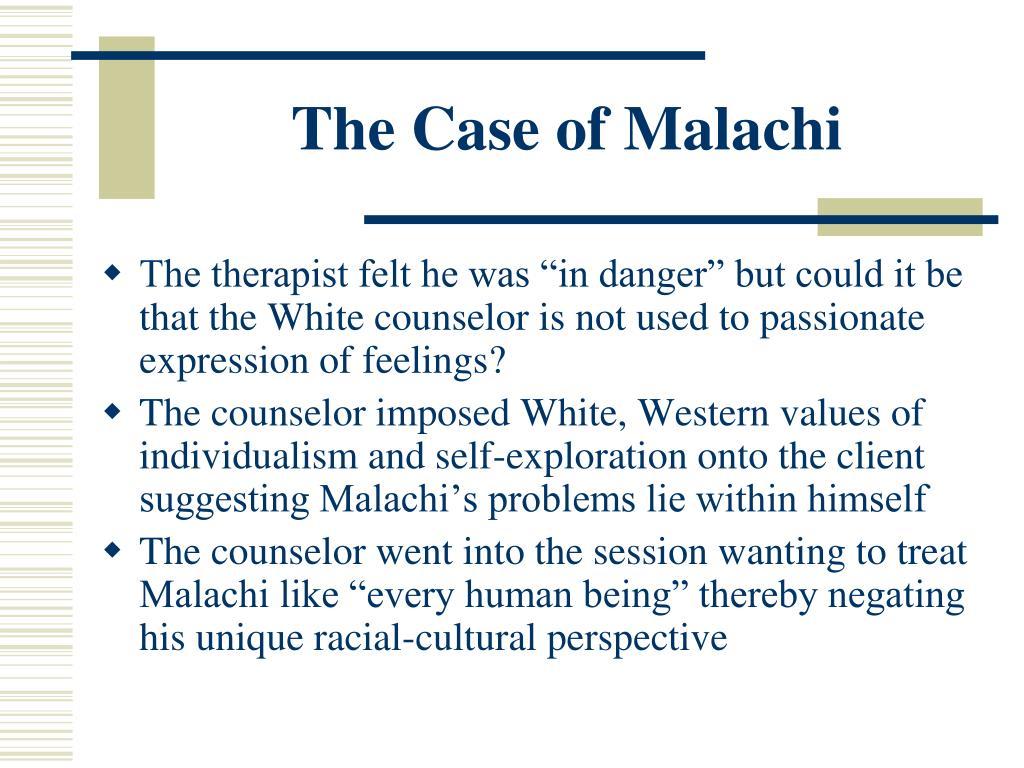 The Case of Malachi