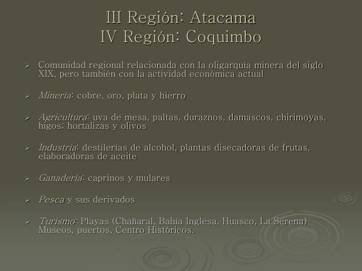 III Región: Atacama