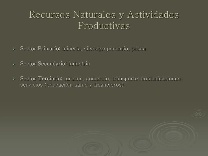 Recursos Naturales y Actividades Productivas