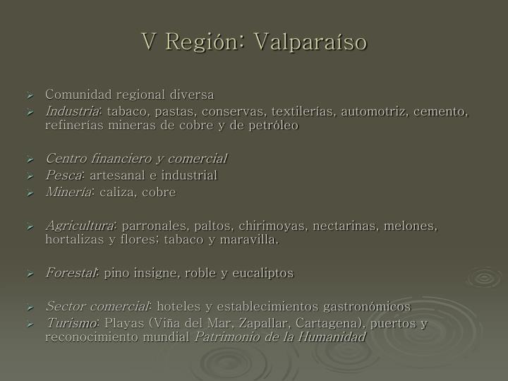 V Región: Valparaíso