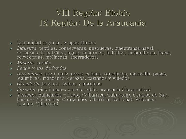 VIII Región: Bíobío