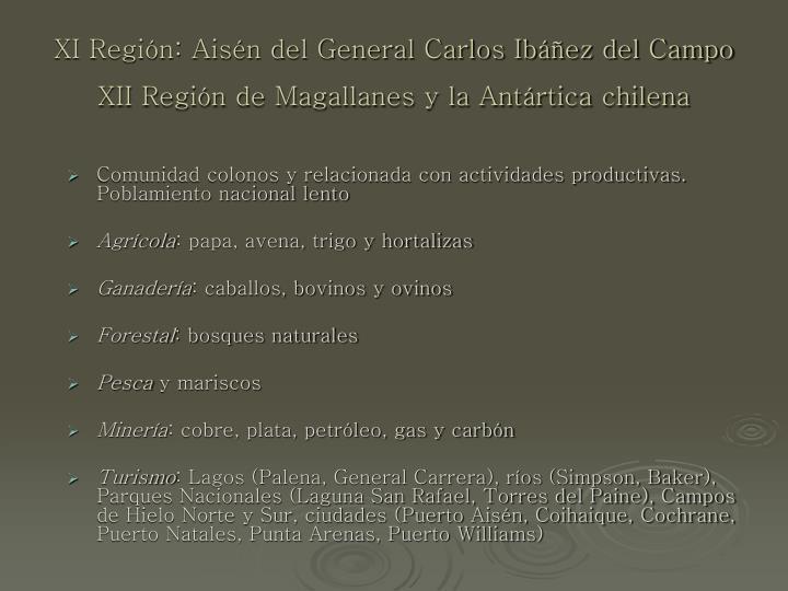 XI Región: Aisén del General Carlos Ibáñez del Campo