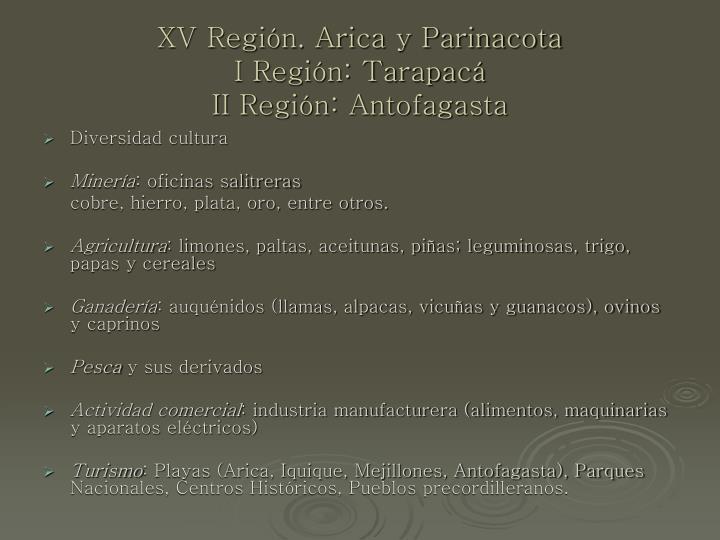 XV Región. Arica y Parinacota