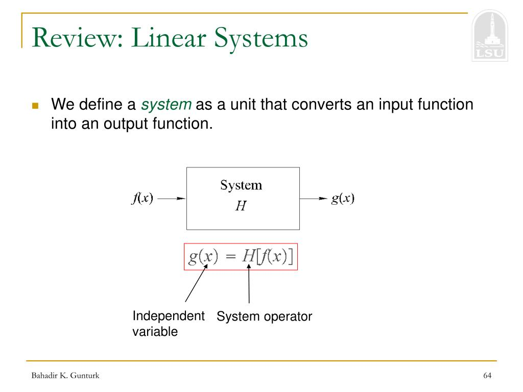 Review: Linear Systems
