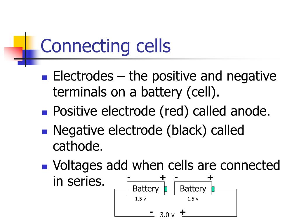 Connecting cells
