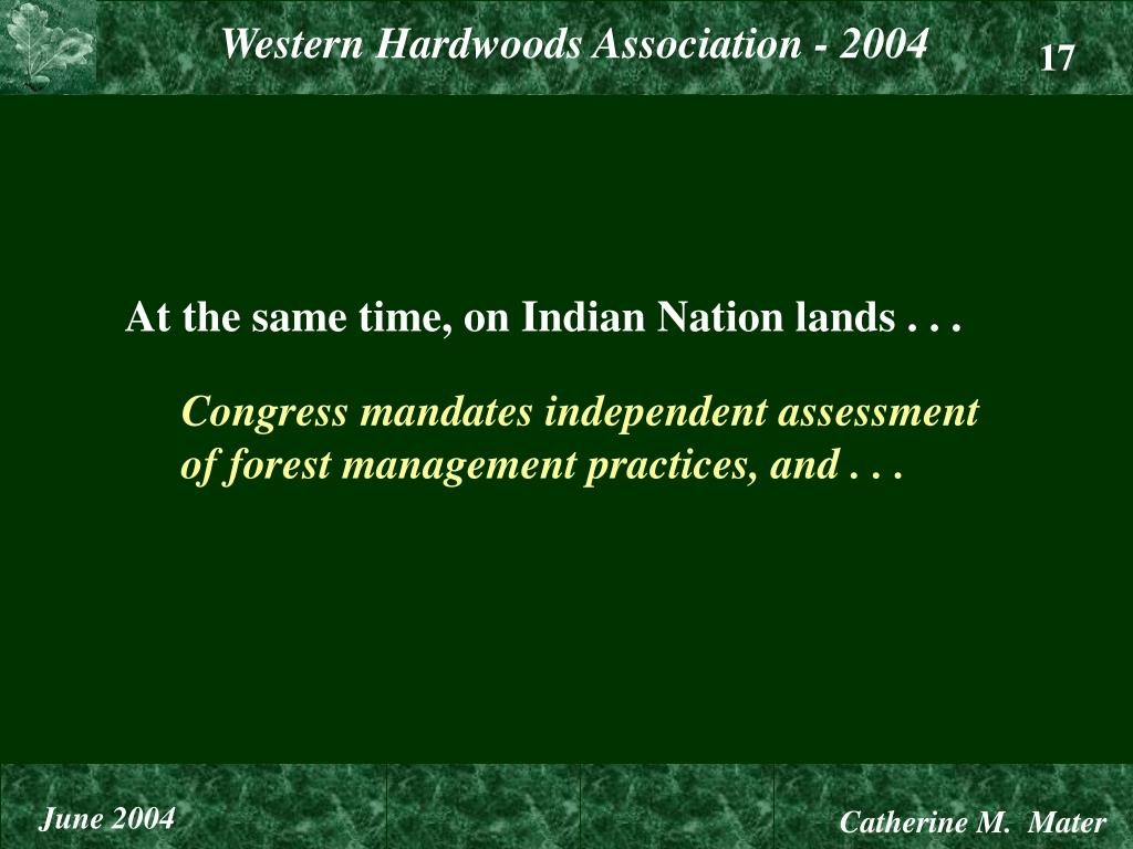 At the same time, on Indian Nation lands . . .