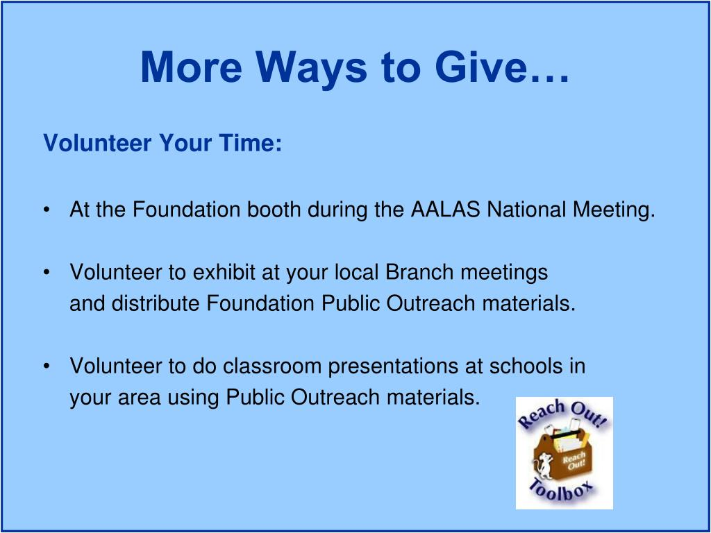 Volunteer Your Time: