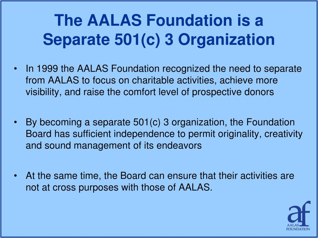 The AALAS Foundation is a
