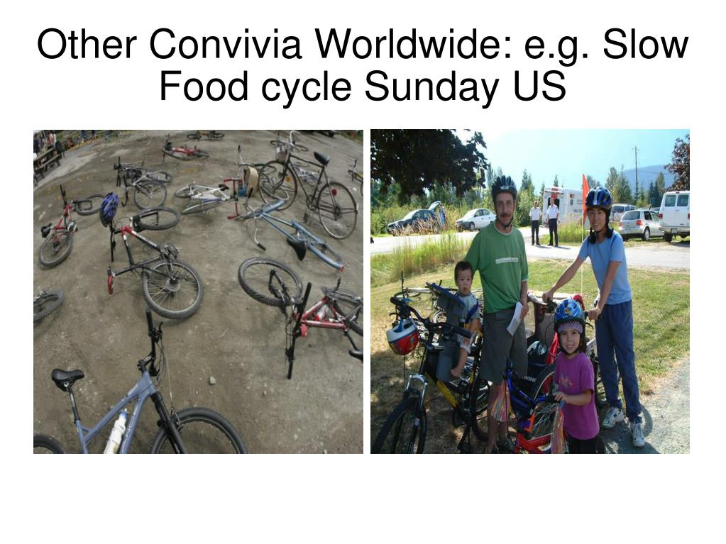 Other Convivia Worldwide: e.g. Slow Food cycle Sunday US