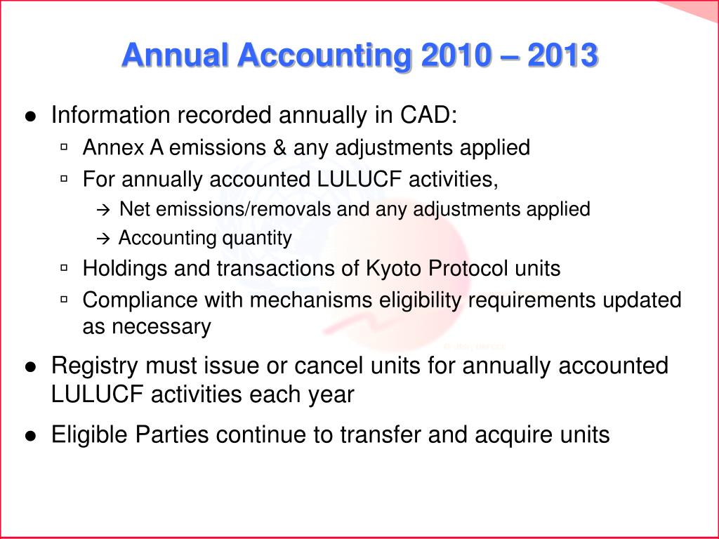 Annual Accounting 2010 – 2013