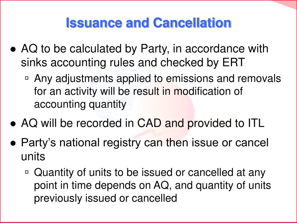 Issuance and Cancellation