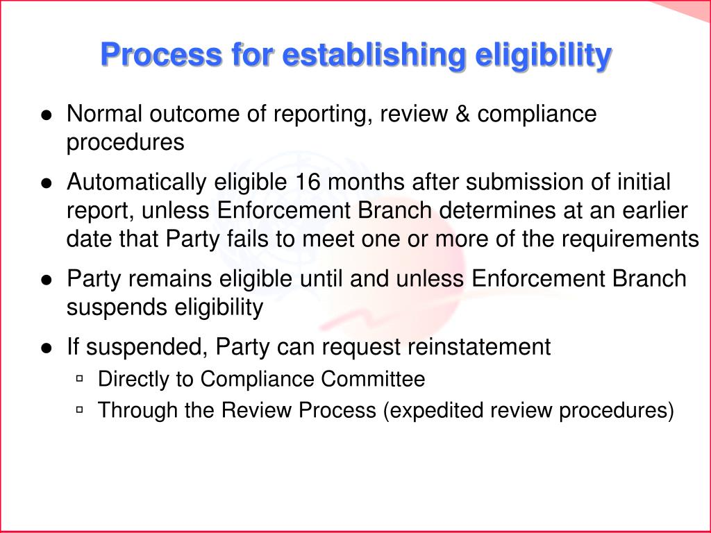 Normal outcome of reporting, review & compliance procedures