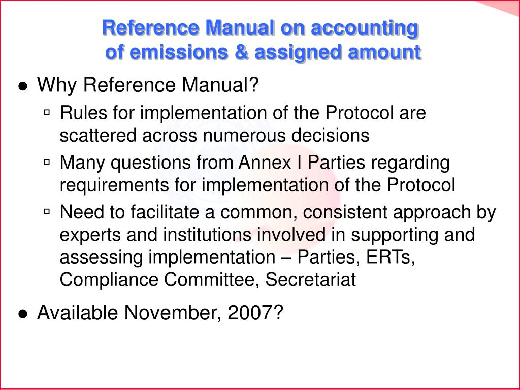 Reference Manual on accounting