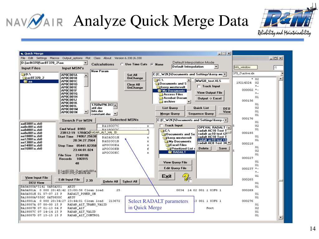 Analyze Quick Merge Data