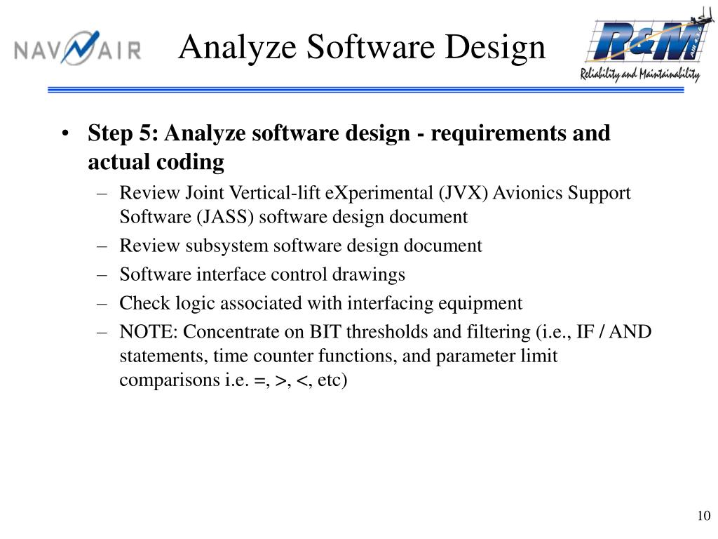 Analyze Software Design