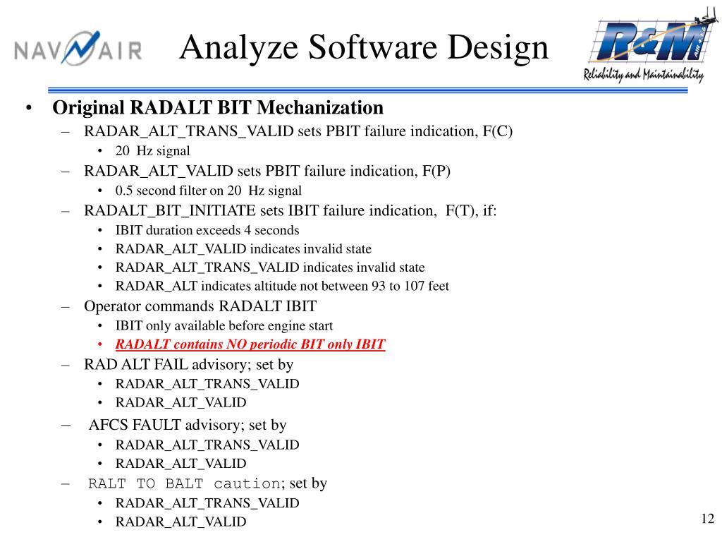 Analyze Software Design
