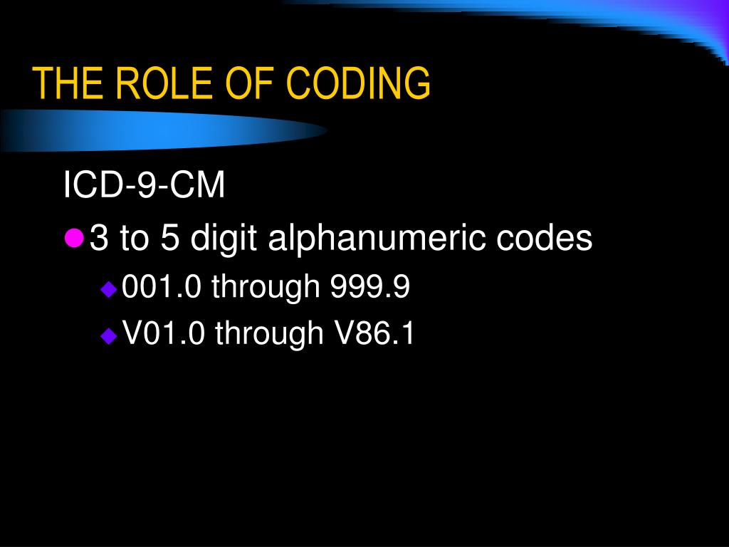 THE ROLE OF CODING