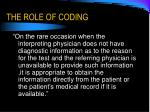 the role of coding19
