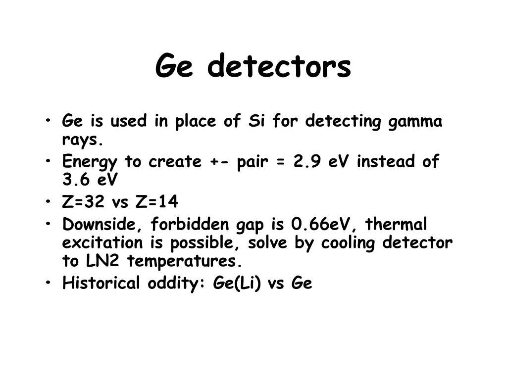 Ge detectors