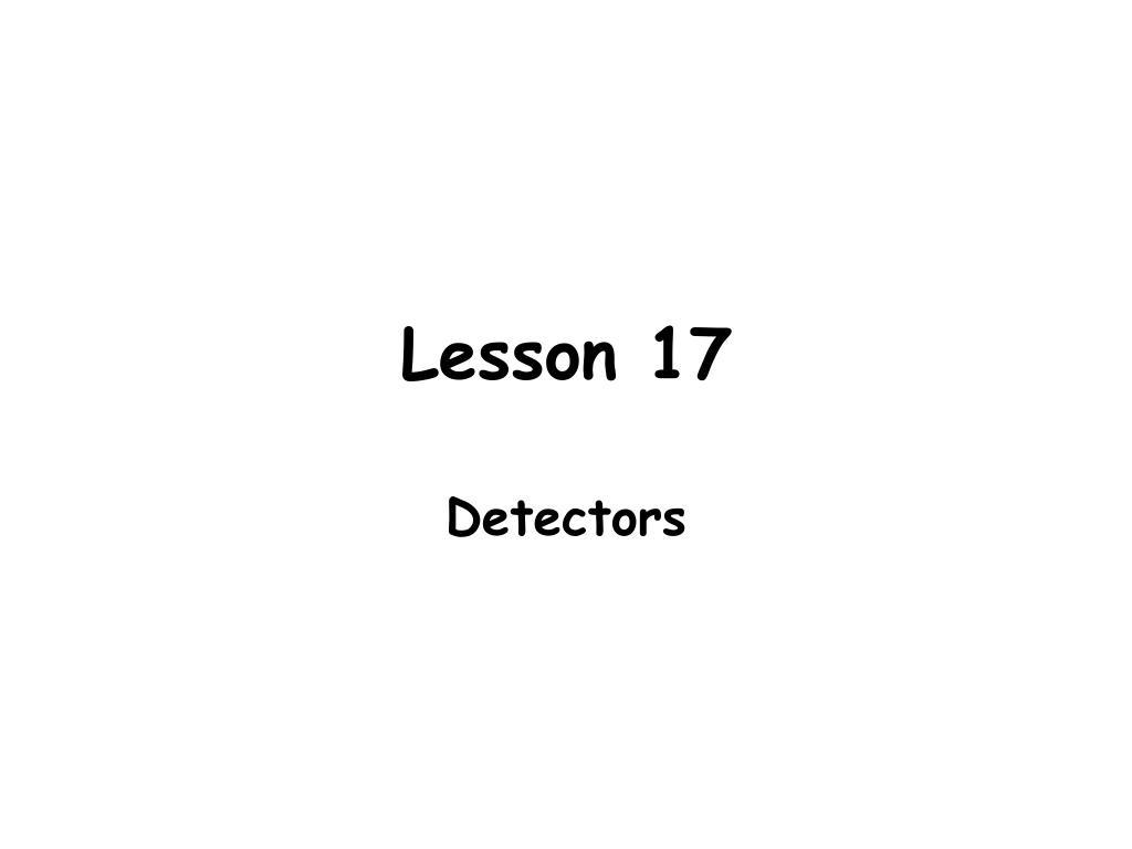 Lesson 17
