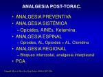 analgesia post torac